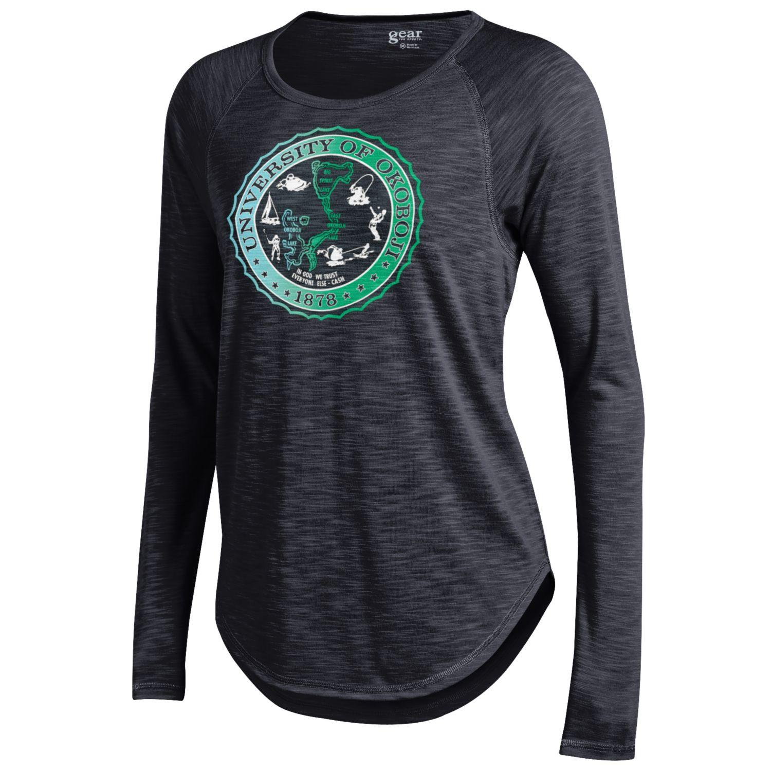 Women's U of O Crest Rendezvous Raglan Tee-Black