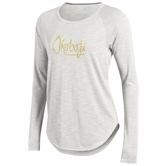 Okoboji Rendezvous Raglan Tee - Winter White