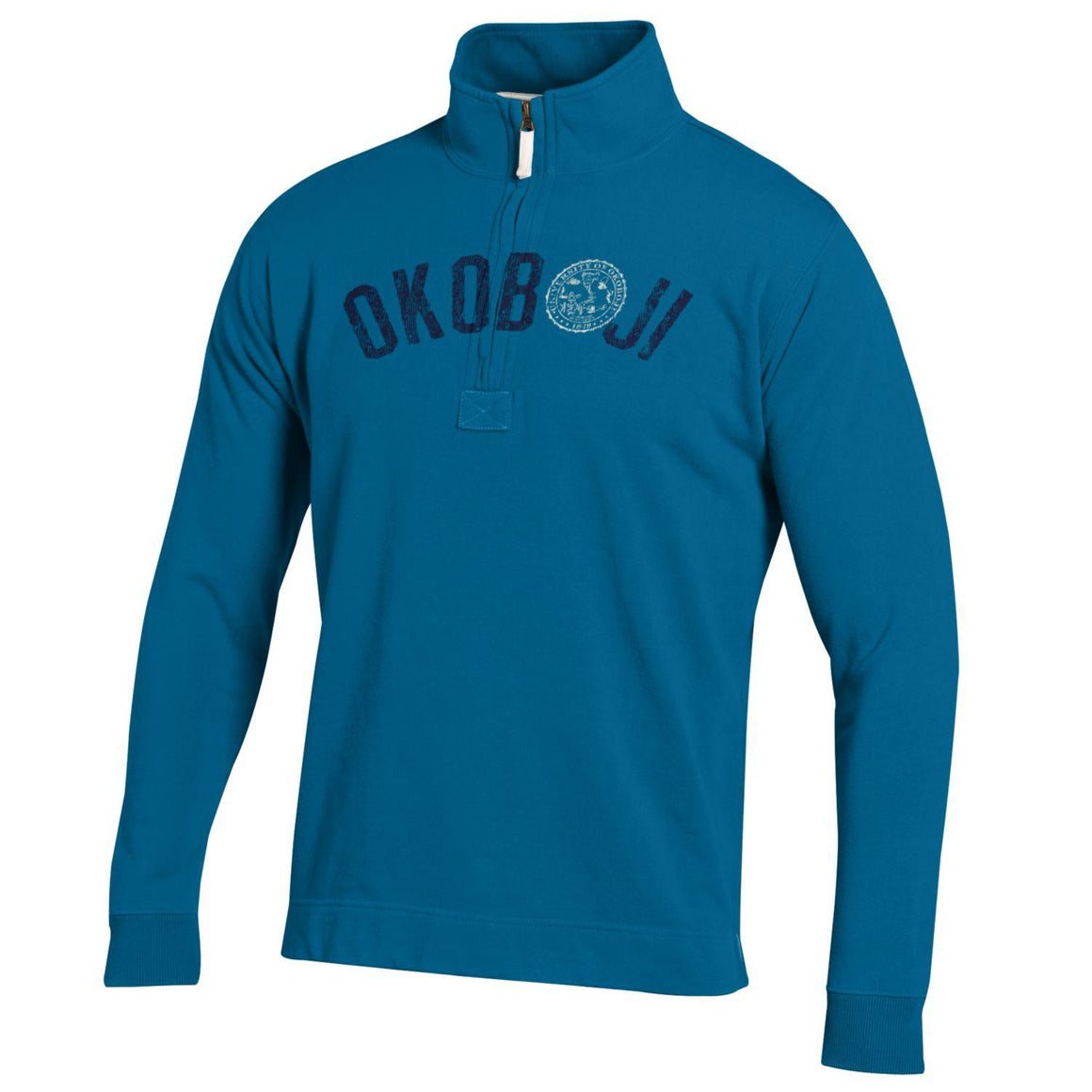 "Blue Water Crest ""O"" 1/4 Zip"