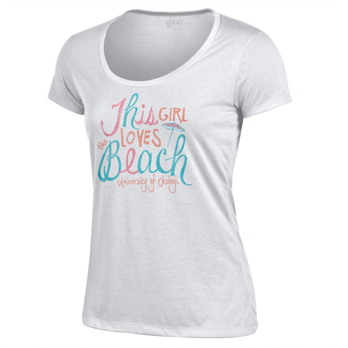 "Ladies Scoop Tee ""This Girl Loves The Beach"""