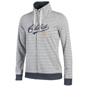Ladies Okoboji U Resort Full Zip - Faded Navy / White Stripe
