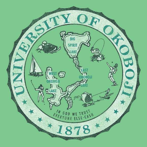 U of O Crest Outta Town Tee - Lime Green