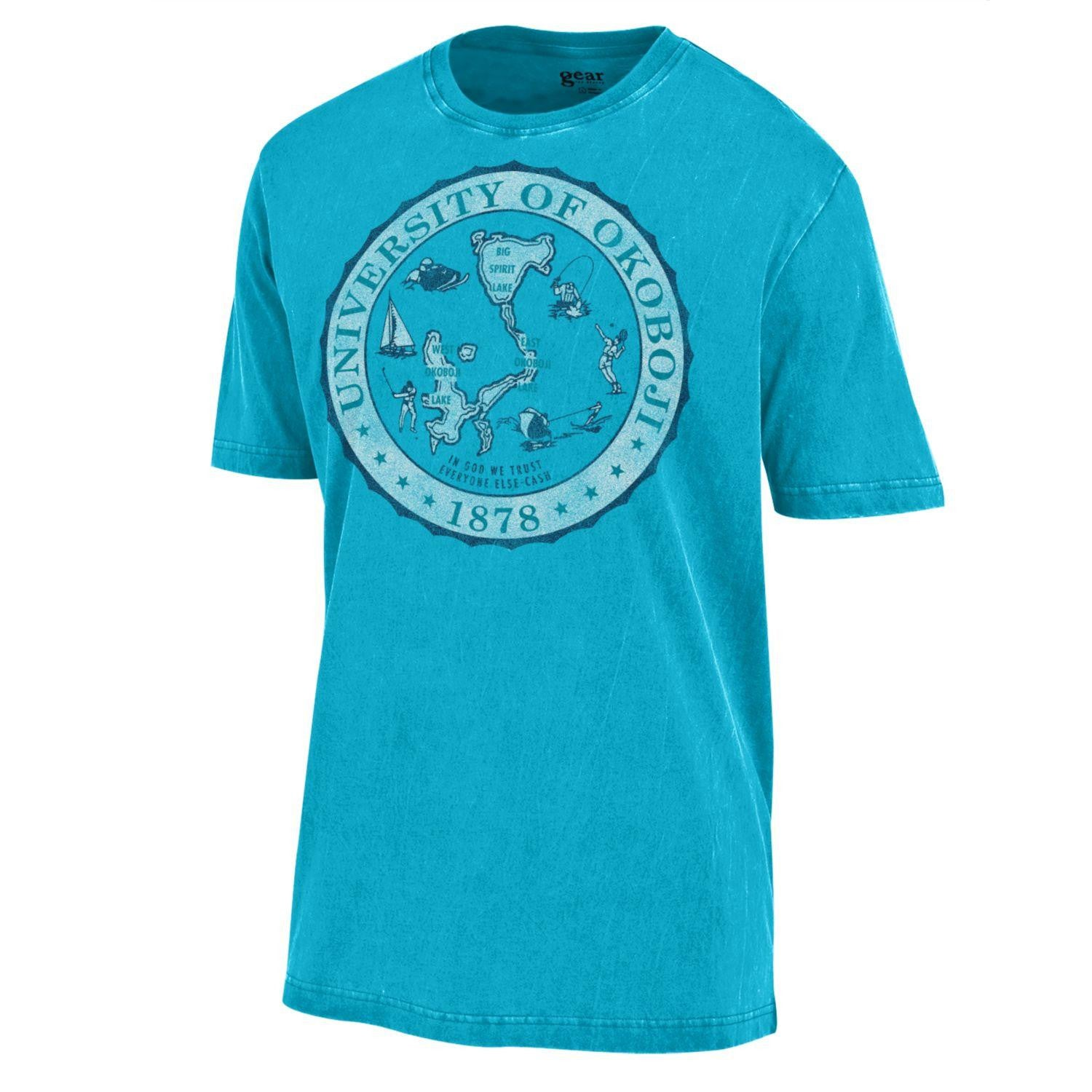 U of O Crest Outta Town Tee - Liquid Blue