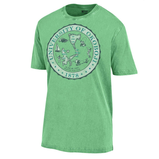 Copy of U of O Crest Outta Town Tee - Lime Green