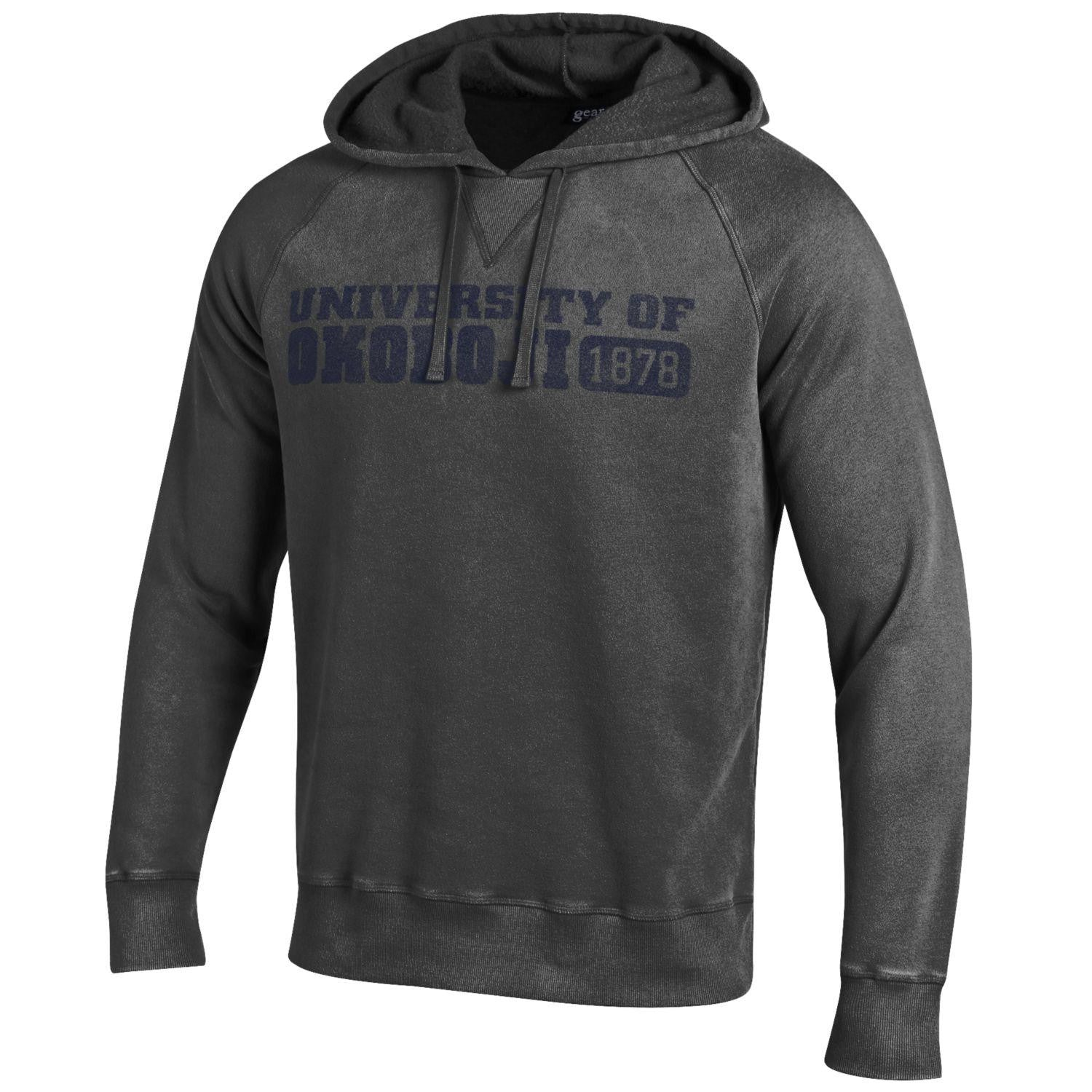 U of Okoboji Outta Town Hood - Charcoal/Granite Heather