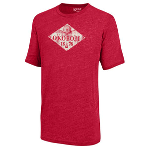 Campus Skyline Tee - Heathered Red