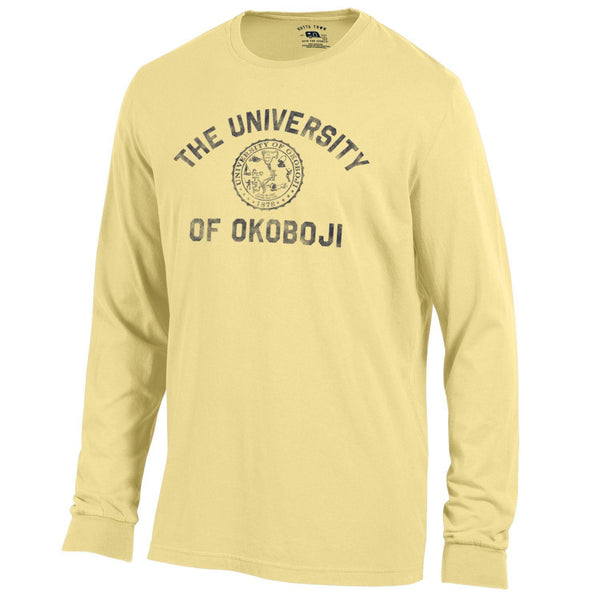 Okoboji Standard Issue Long Sleeve Tee - Banana Yellow