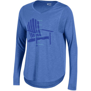 "Ladies Long Sleeve Tee ""This is my happy place!"""