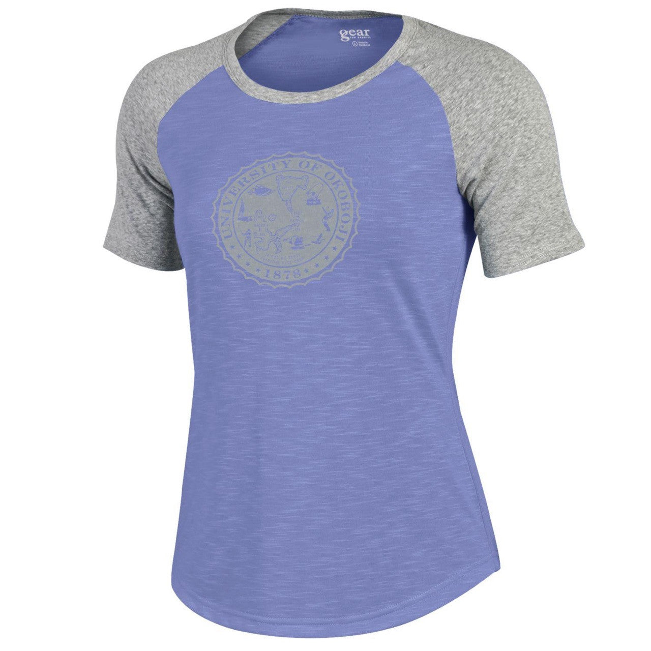 Women's Purple and Heather Gray Tee