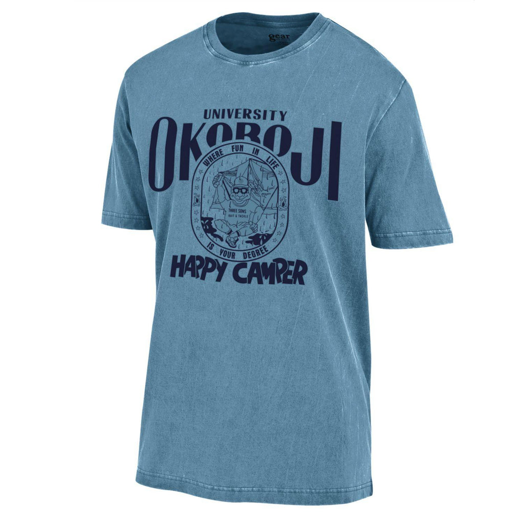 Happy Camper Tee - Mineral Blue