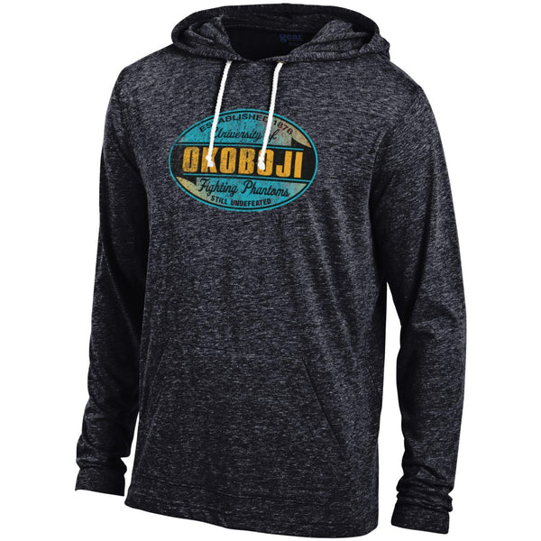 University of Okoboji Lightweight Tri-blend Hood - Dark Gray