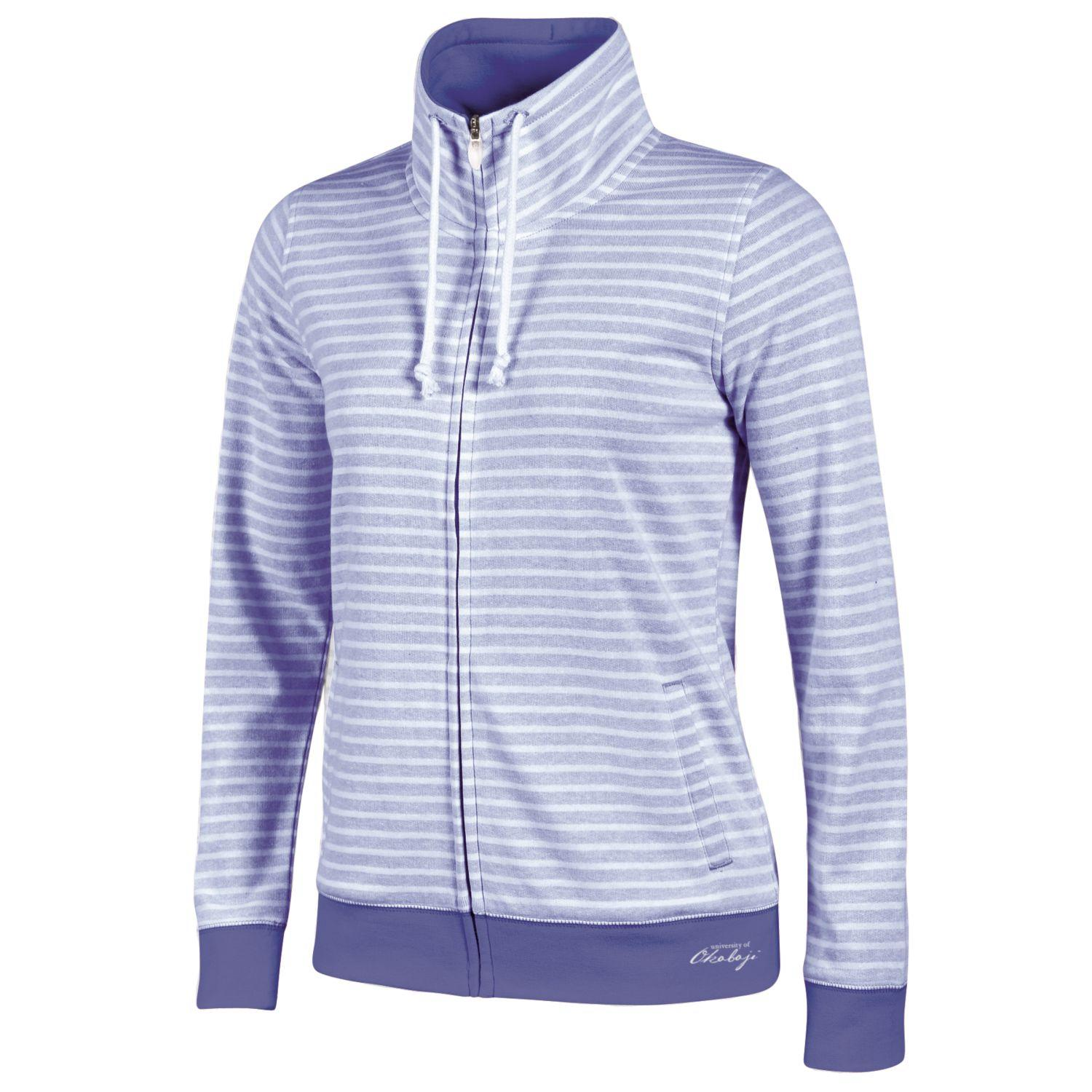 University of Okoboji Resort Full Zip - Lavender/White Stripe