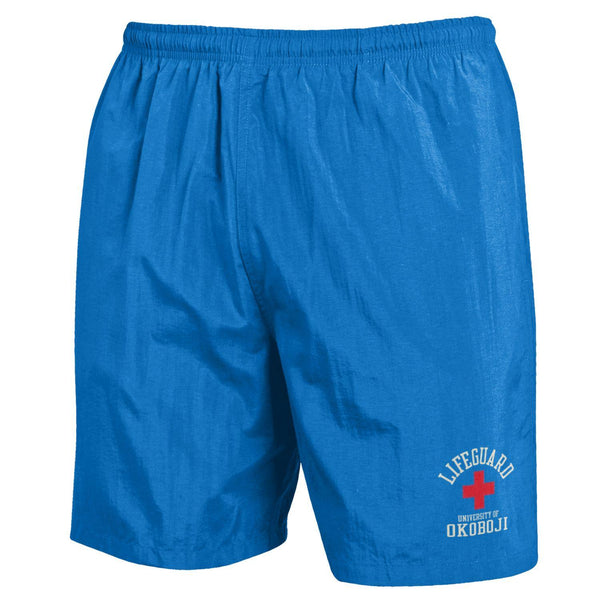 U of Okoboji Life Guard Trunks - Blue Breeze