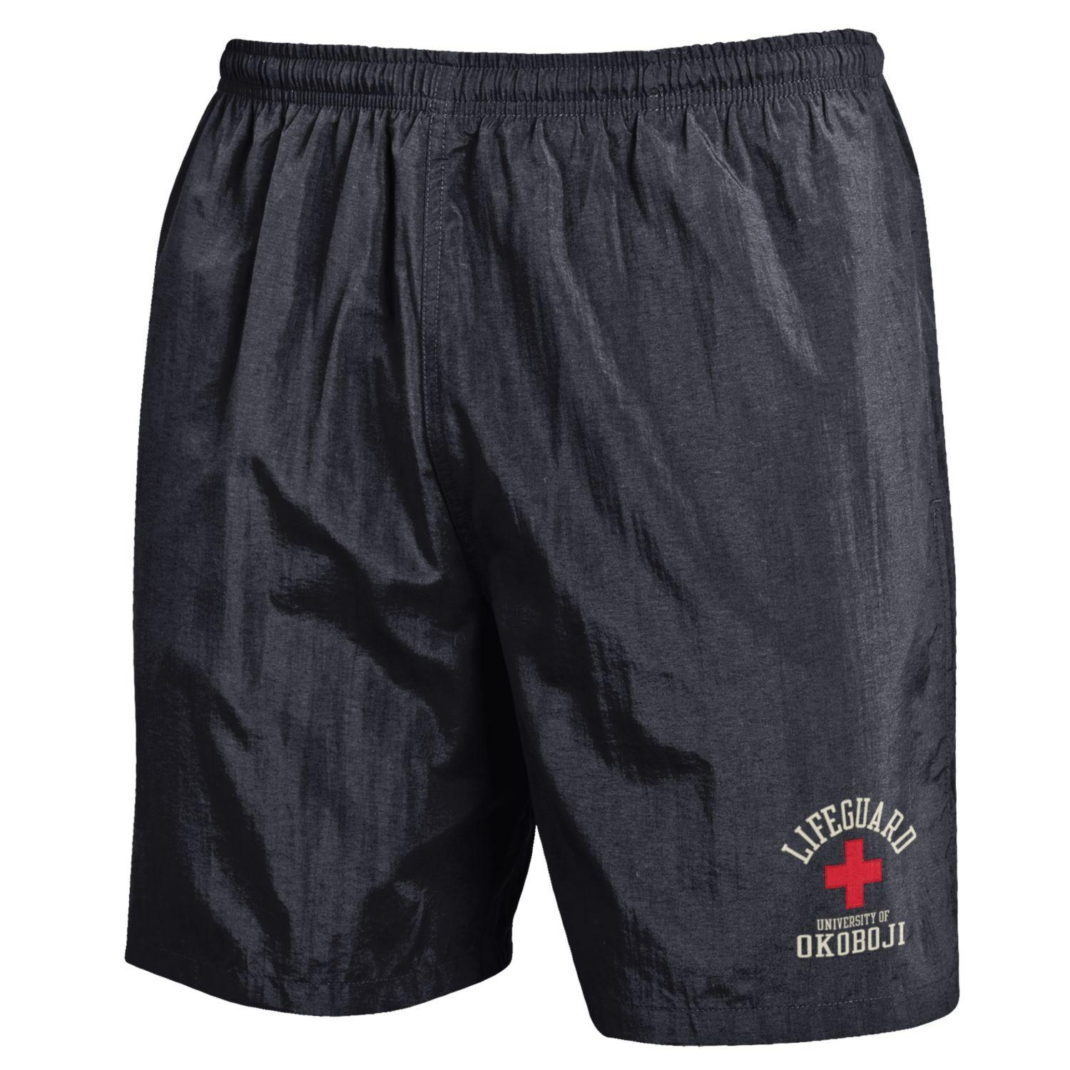 U of Okoboji Life Guard Trunks - Black