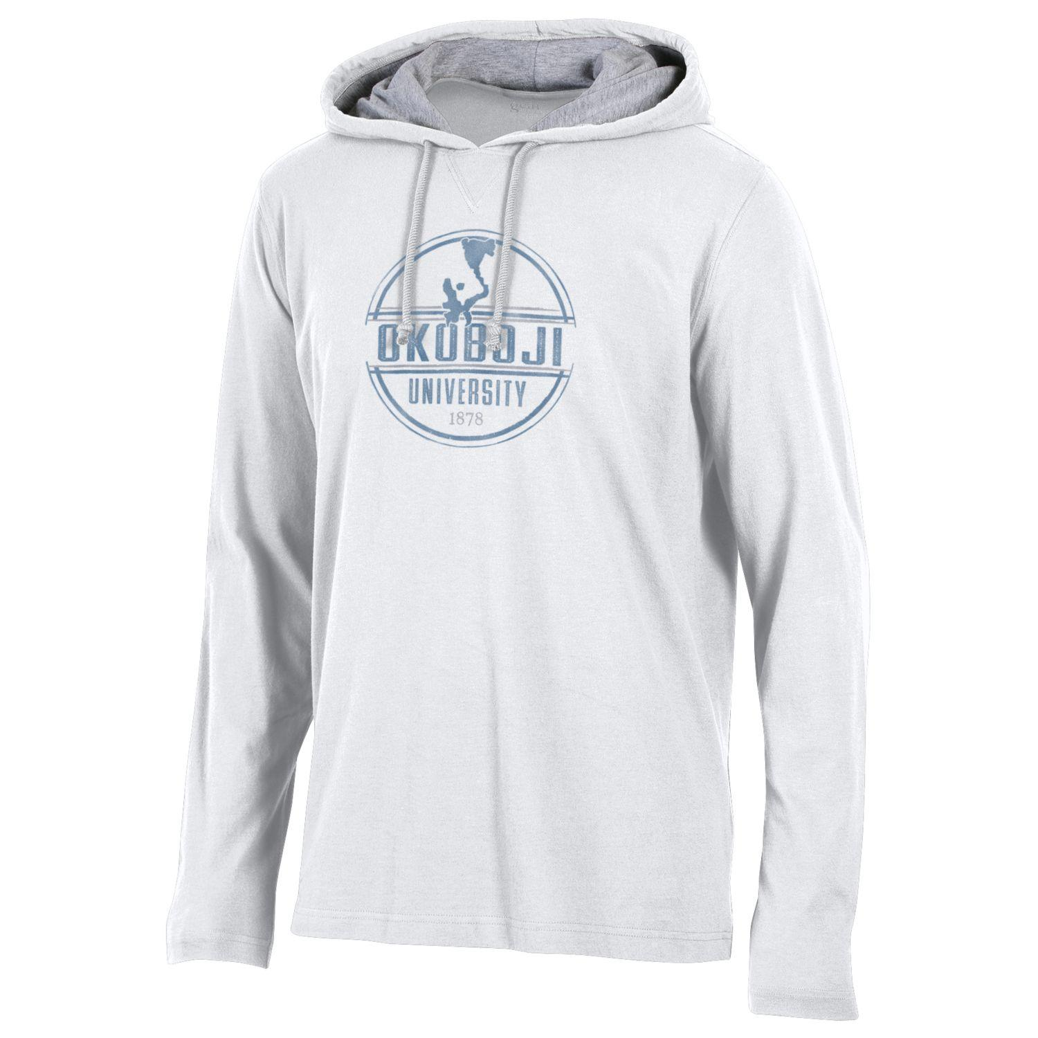 Light Weight Okoboji Hampton Hood - White/Oxford