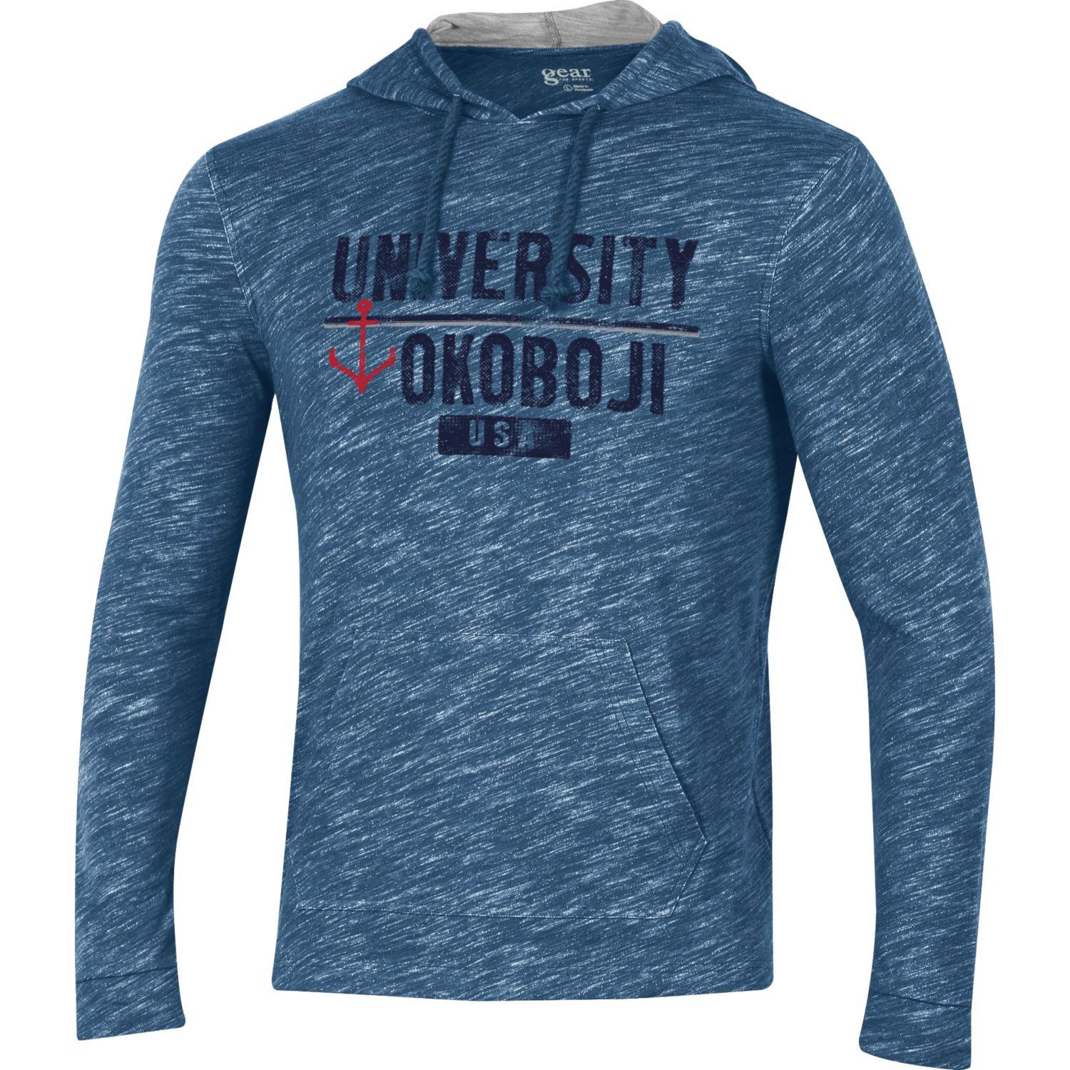 Okoboji USA Huntington Hood - Faded Navy