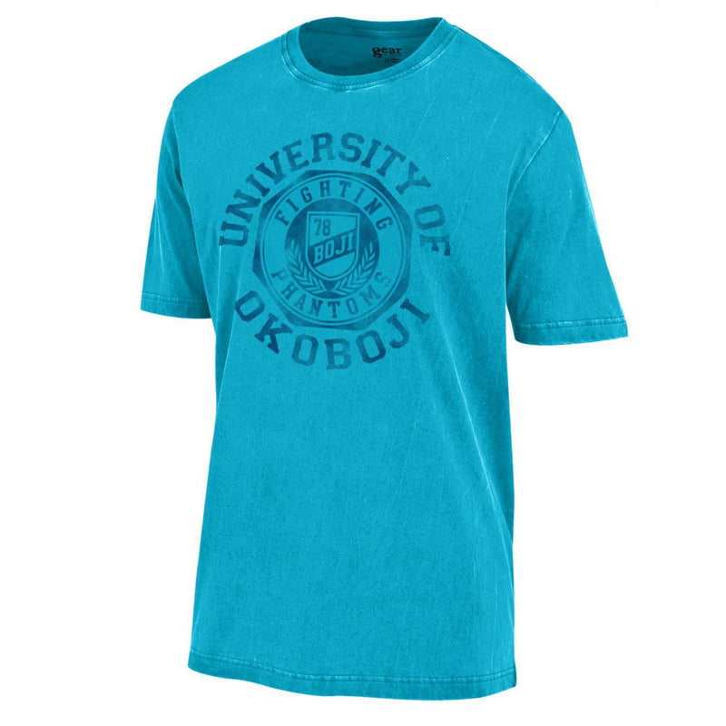 The Okoboji Three Seal - Outta Town Tee - Liquid Blue