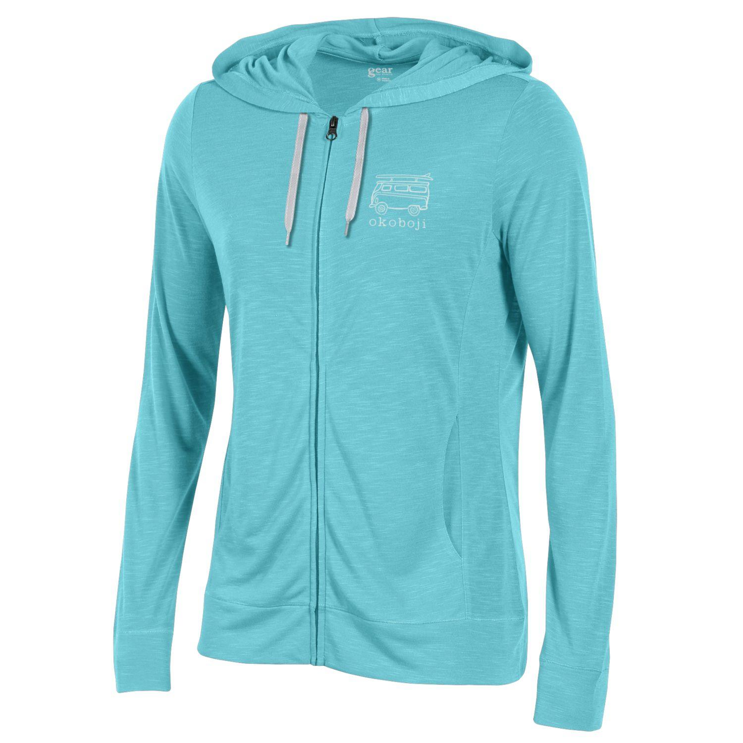 Women's Volks Bus Lightweight Full-Zip -Turquoise