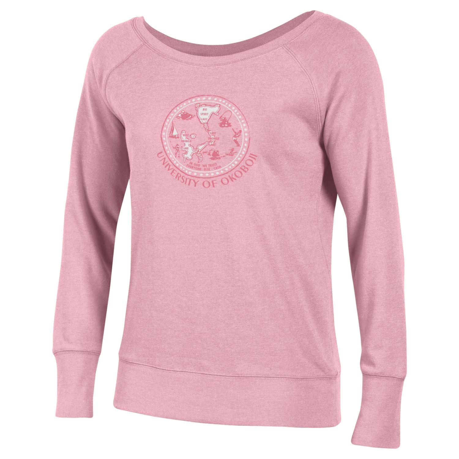 Women's Anytime Fleece Crew-Light Pink