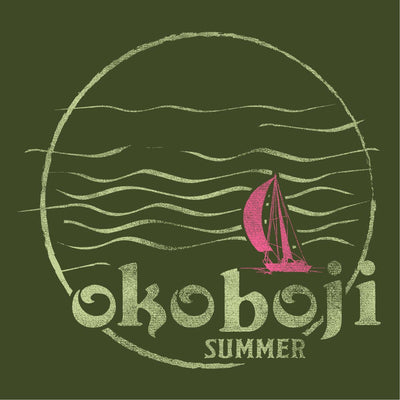 Okoboji Summer Tri-Blend Scoop - Cargo Olive