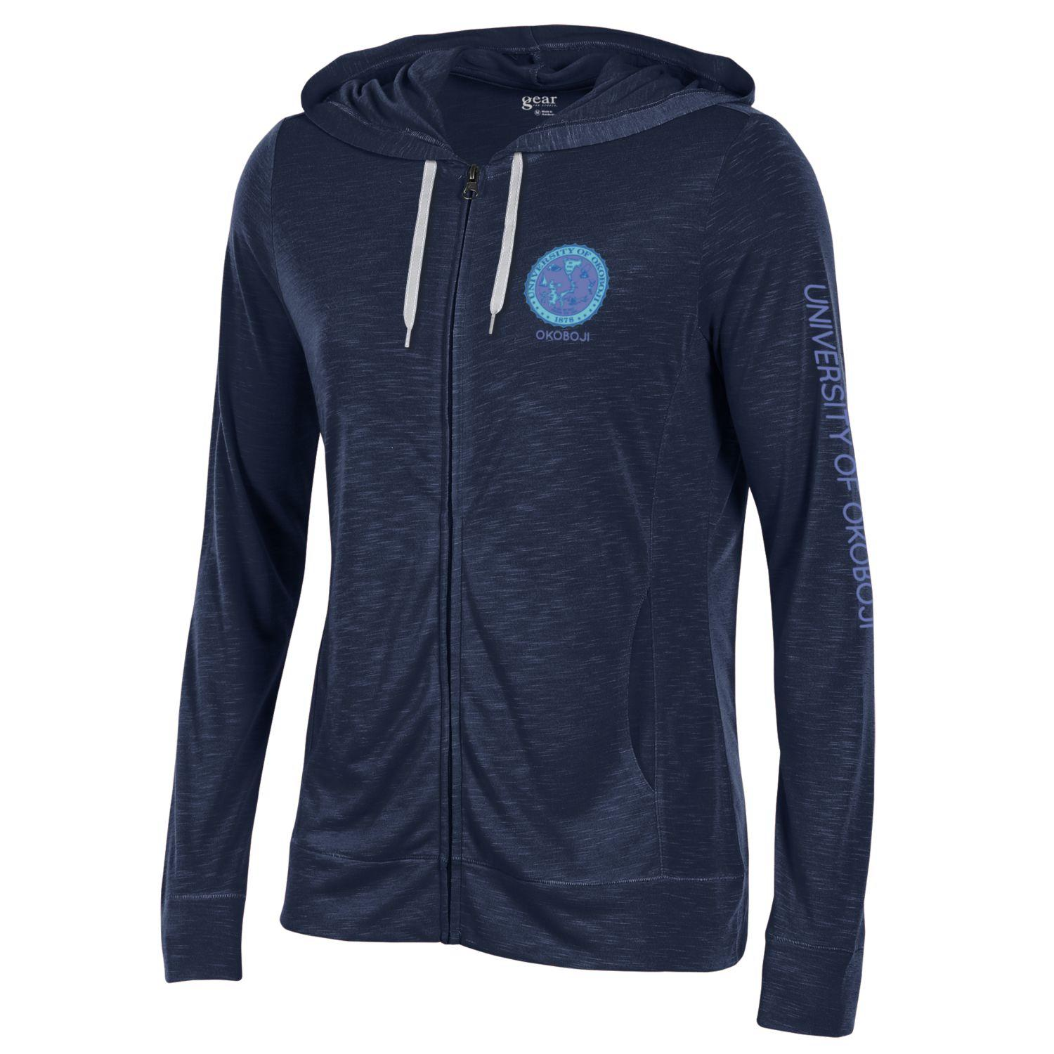 Women's Nightsky U of O Crest  Lightweight Full-Zip