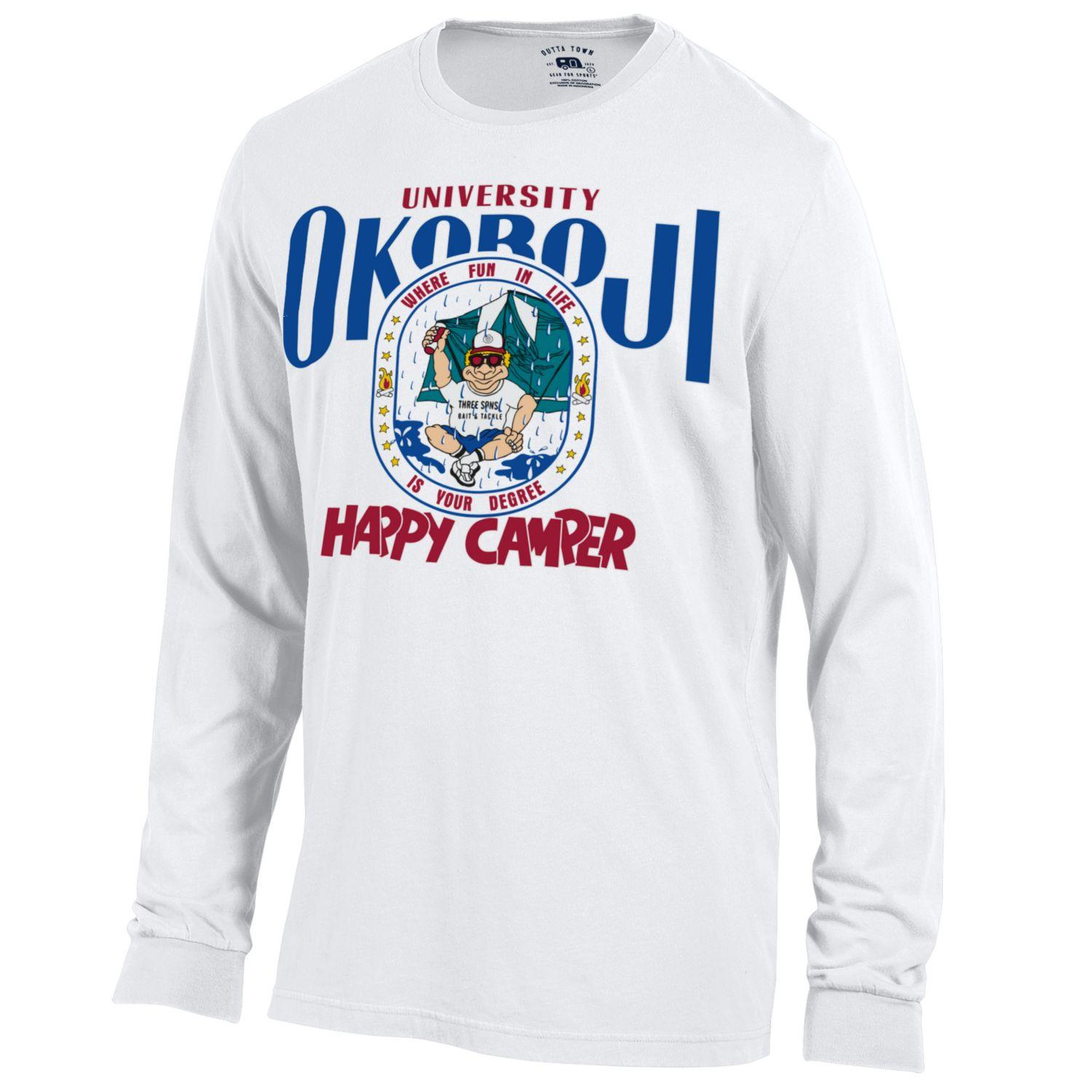 Happy Camper - Outta Town Long Sleeve Tee - White