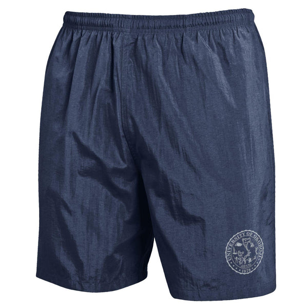 U of Okoboji Crest Trunks - Marine Navy