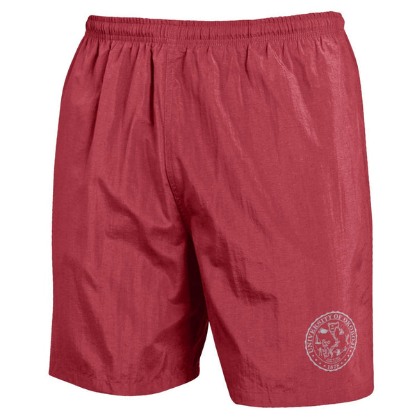 U of Okoboji Crest Trunks - Brick Red