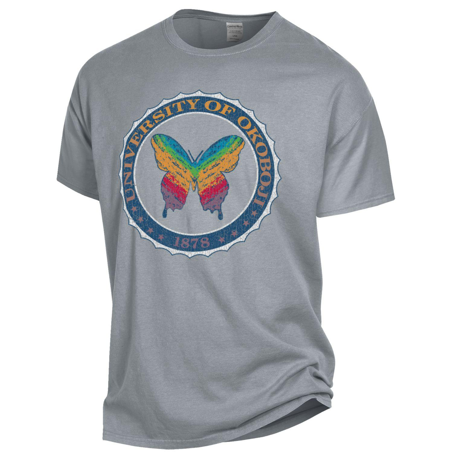 c350f6a86 OkoButterfly Tee - Garment Dyed Short Sleeve - Concrete Grey