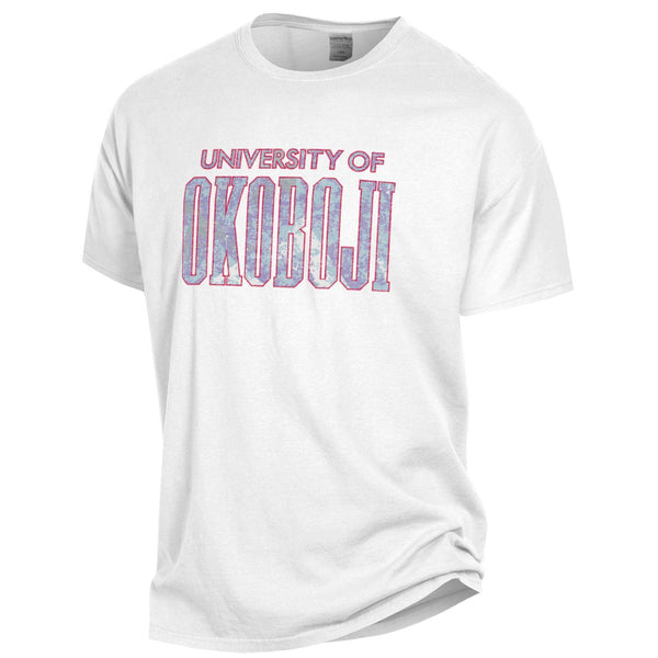 University of Okoboji Glass Rock - Garment Dyed Short Sleeve - White