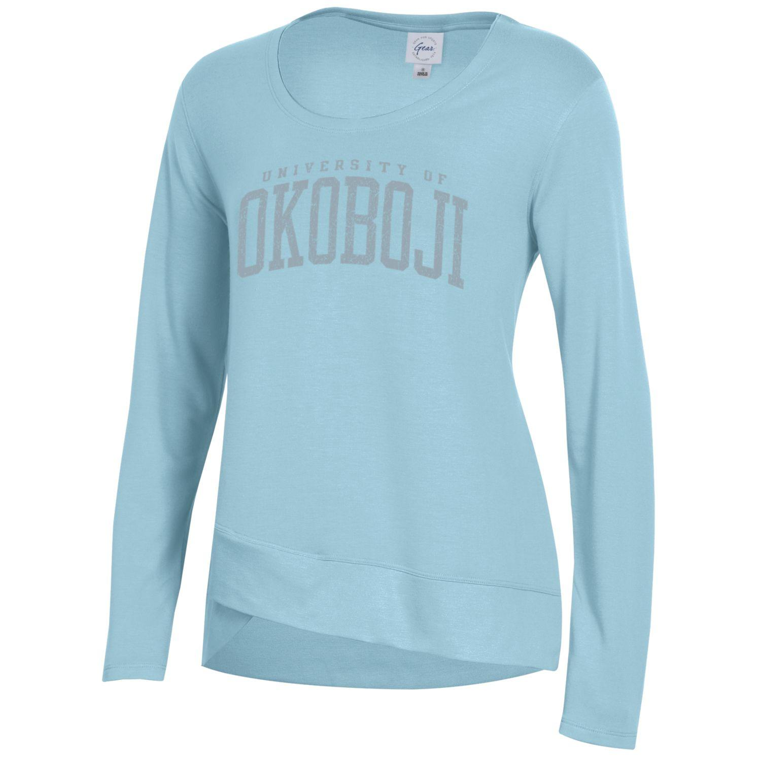 Ladies Okoboji CROSS TOWN FLEECE - Iced Blue