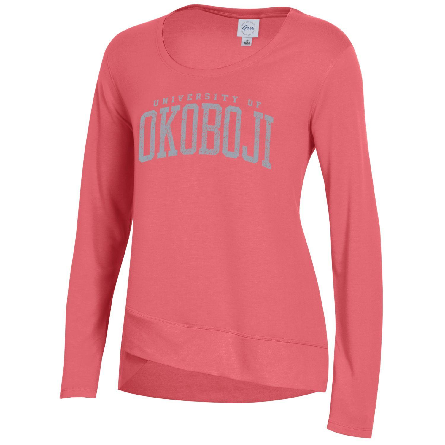 Ladies Okoboji CROSS TOWN FLEECE - Coral Sunrise