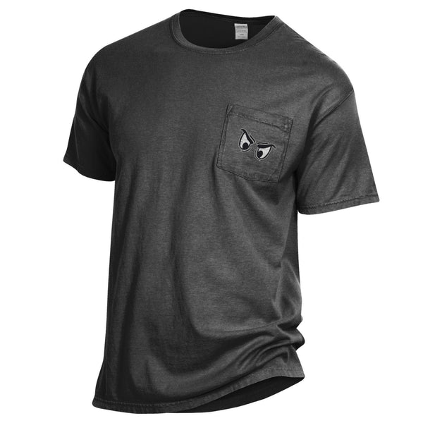 Phantoms Garment Dyed Short Sleeve Pocket Tee - Black