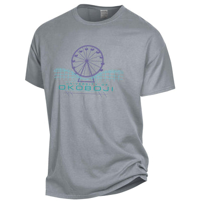 Campus Skyline - Garment Dyed Short Sleeve Tee - Concrete Grey