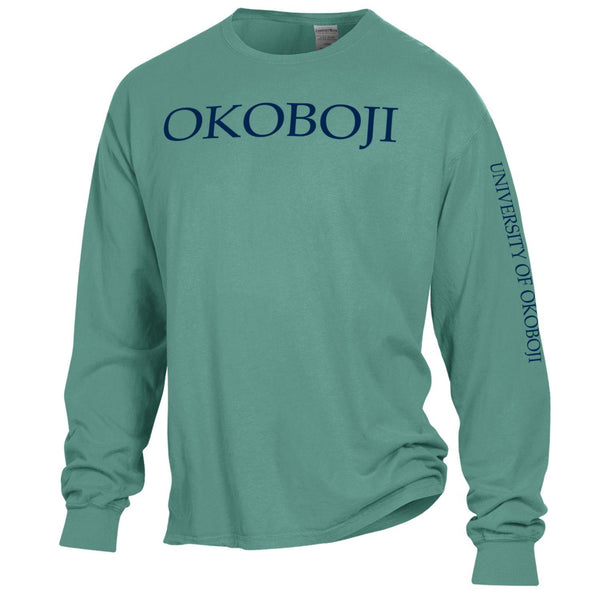 Okoboji Campus Tee - Cypress Green