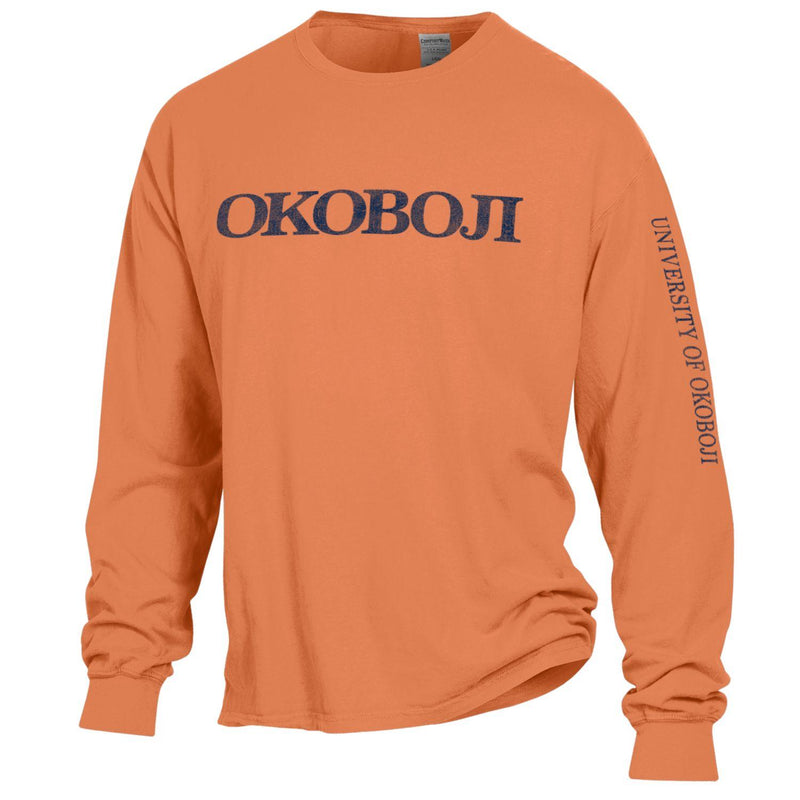 University of Okoboji On Campus Long-sleeve Tee - Horizon Orange
