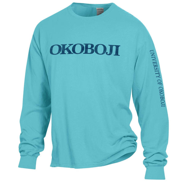 University of Okoboji On Campus Long-sleeve Tee - Freshwater Blue