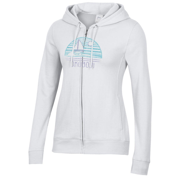 Women's Okoboji Relax Full Zip Hood - White