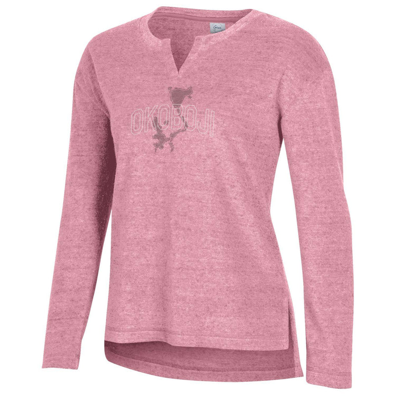 Women's Okoboji Feel Good Terry Crew - Terracotta Pink