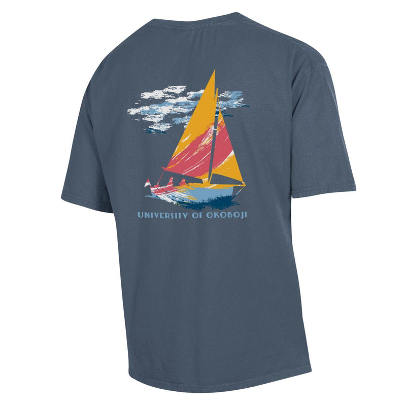 Okoboji Sailing Team Short Sleeve Tee - Anchor Slate