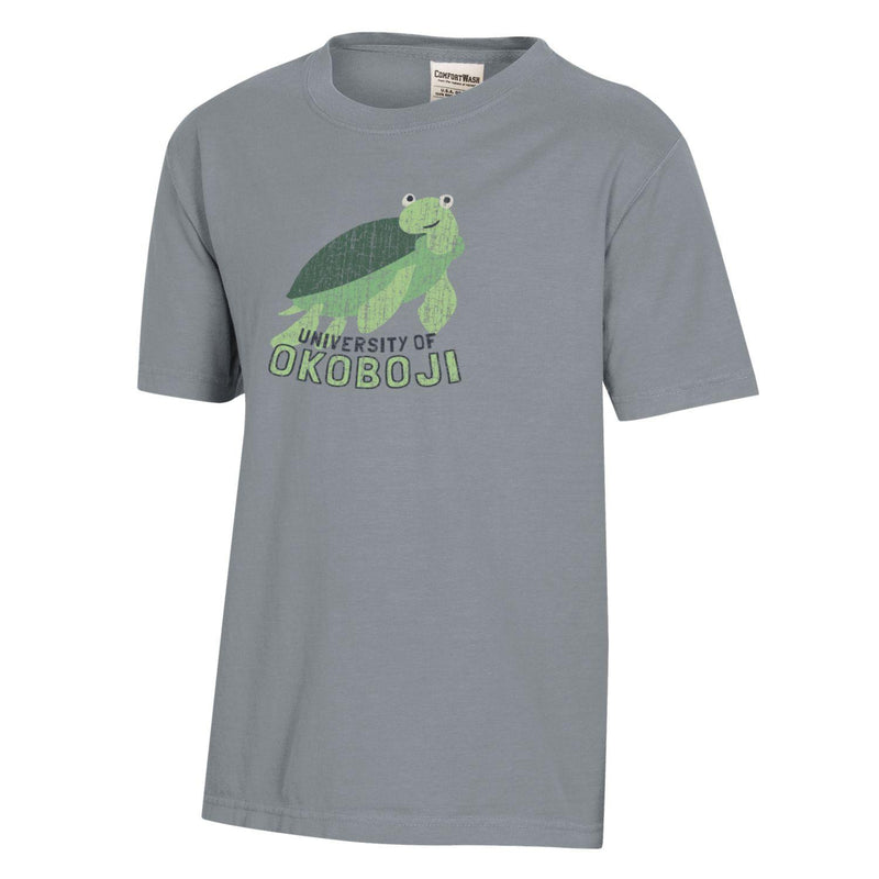 Turtle Class Comfort Wash Okoboji Youth Tee - Grey