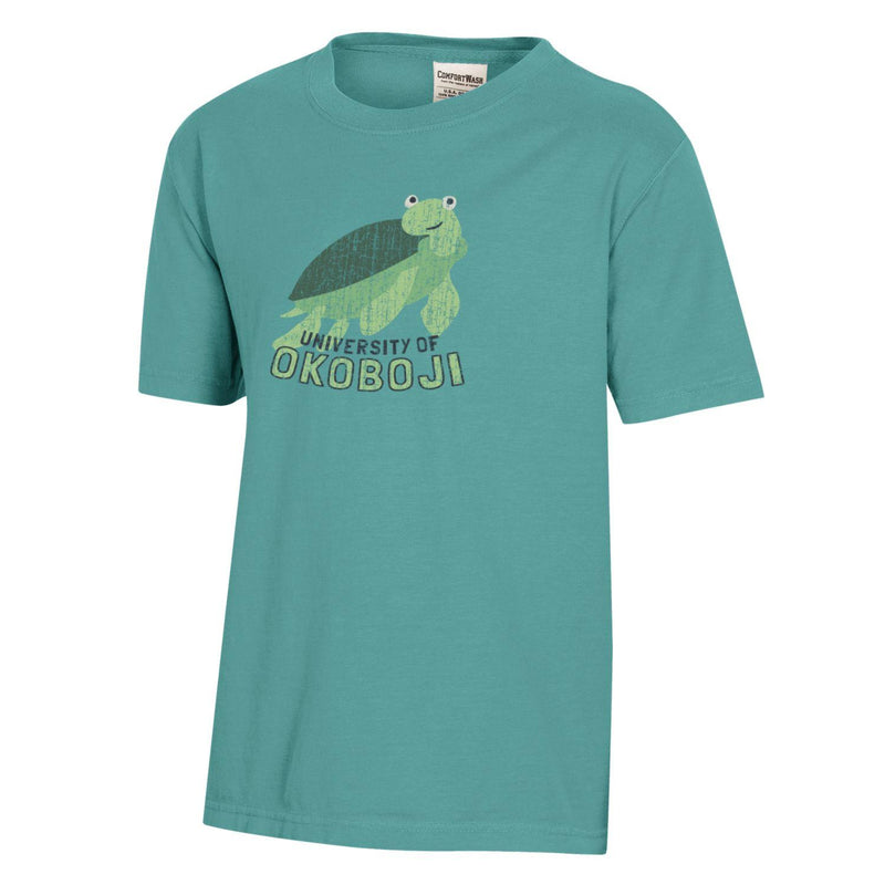 Turtle Class Comfort Wash Okoboji Youth Tee - Green