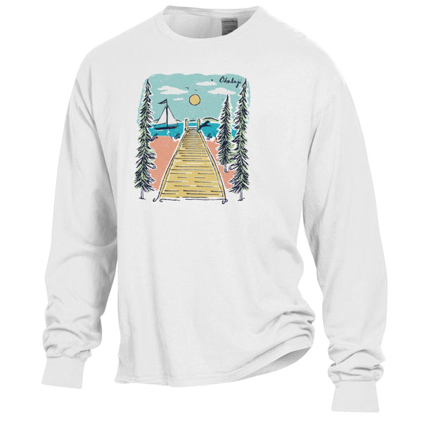 Dock Dayz Of Summer Long Sleeve Tee - White
