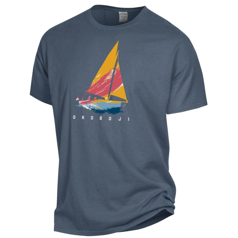Okoboji Sailing Short Sleeve Tee - Anchor Slate