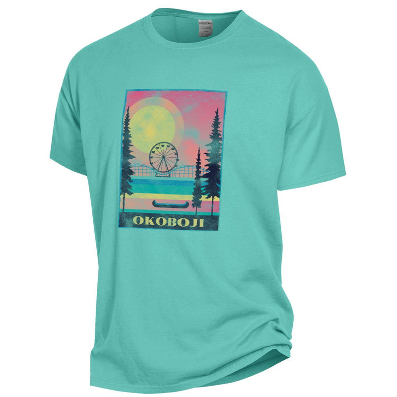 Lakes Okoboji Garment Dyed Short Sleeve Tee - Mint