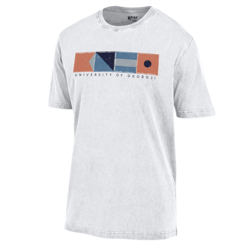 B-O-J-I Nautical Flag Tee - White