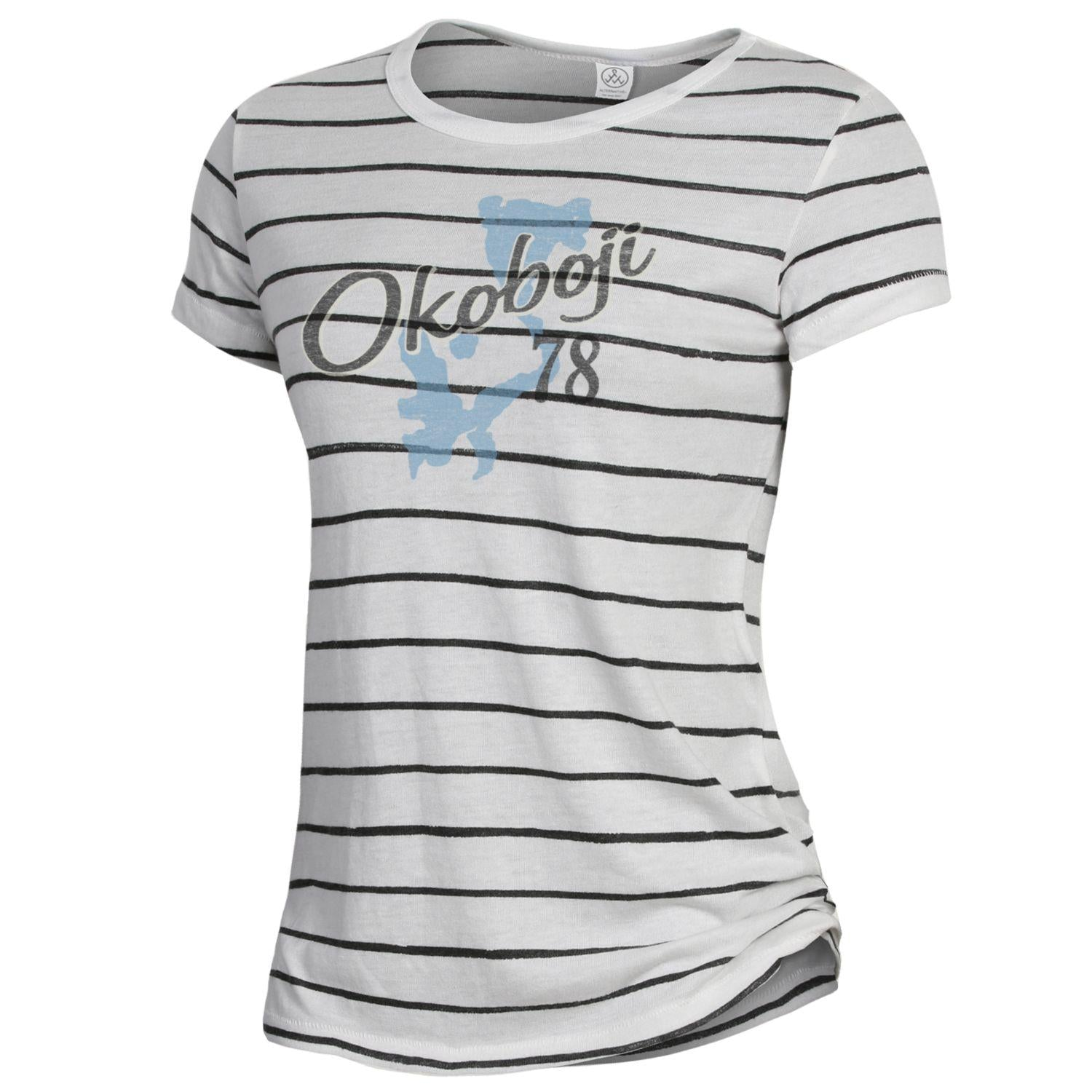 Okoboji Ideal Tee - Eco Ivory Ink Stripe