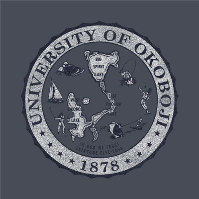 University of Okoboji Champ Color Block - Eco Grey / Eco True Navy