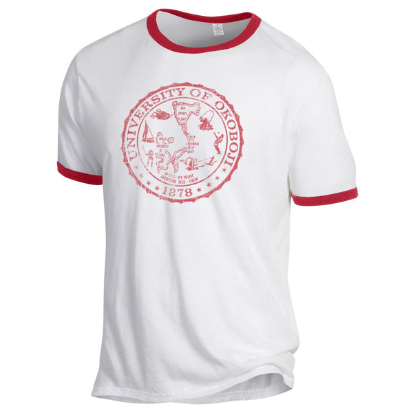 University of Okoboji Red Ringer Tee