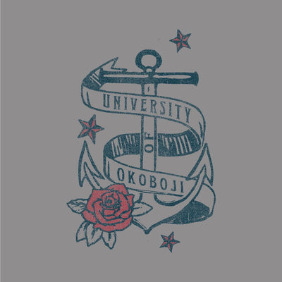 University of Okoboji Smoke Gray Anchor Tee